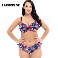 Swimwear Women Plus Size Beachsuit Swiming Suit Women Large Size Split Swimsuit Swimwear Female 2018 BK50006