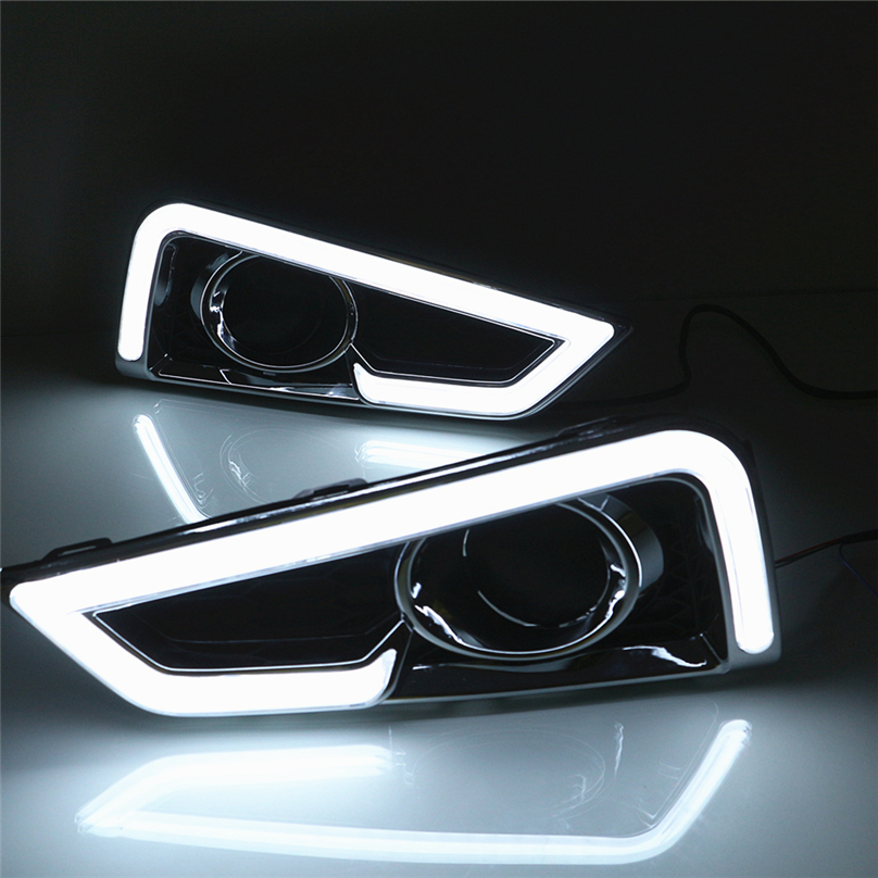Car Flashing For Honda City 2015 2016 DRL Driving Daytime Running Light DRL with Turn signal fog lamp Relay Daylight car styling-in Car Light Assembly from Automobiles & Motorcycles    1