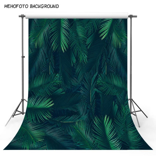 MEHOFOTO Jungle leaves tropical party theme birthday backdrop decoration photographic background photo backdrop for photography