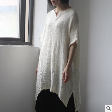 New product launches summer of 2017, the original design loose big yards of cotton linen leisure female T-shirt