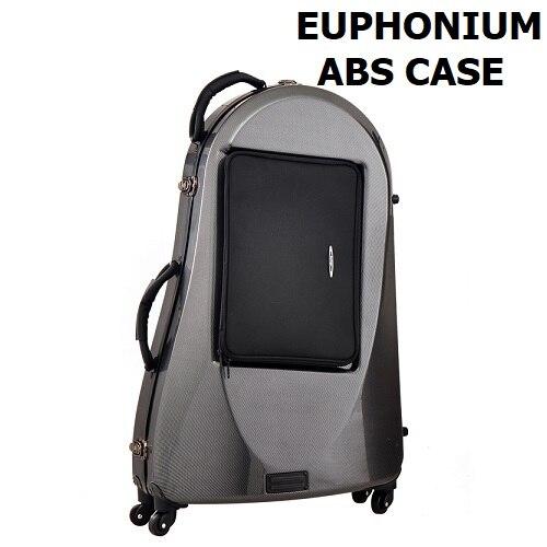 Чехол euphonium ABS Bassoon на нижних колесах с ручкой Contrabassoon алюминиевый латунный духовой инструмент сумка симфонический оркестр Бессон чехол - Цвет: Черный