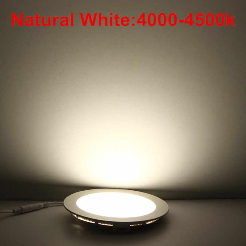 דק במיוחד led תקרת אור מנורת 3 w 4 w 6 w 9 w 12 w 15 w 25 w led תקרת רשת שקועה מקורה slim עגול לוח אור משלוח חינם