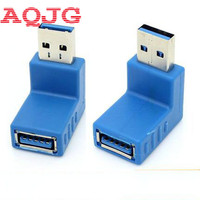 10pcs Lot Up Down Angle 90 Degree USB 3 0 Male To A Female Adapter Converter