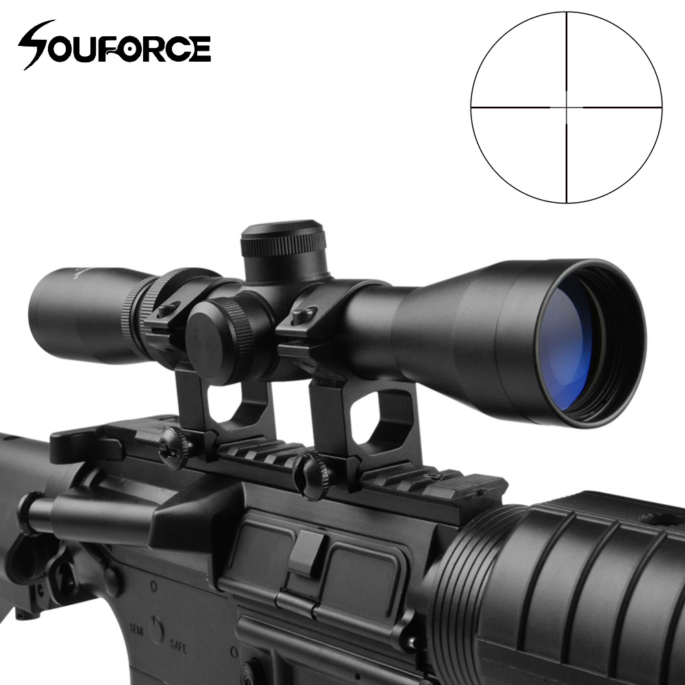 US Tactical  2-7x32 Riflescope Long Eye Relief Scope With High Profile 20mm Mount Rings Of Hunting Airsoft Gun Accessories