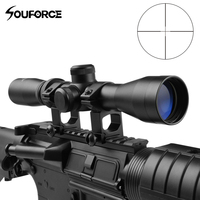 US Tactical 2 7x32 Riflescope Long Eye Relief Scope with High Profile 20mm Mount Rings of Hunting Airsoft Gun Accessories