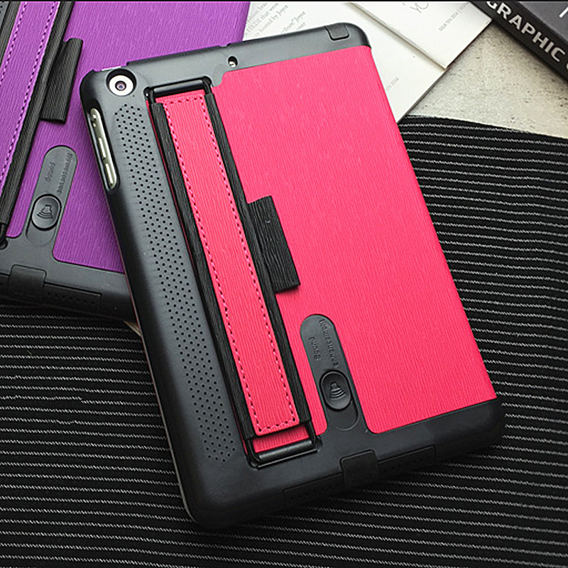 Fashion Tablet Smart Case 7.9 for iPad Mini 3 PU Leather Stand Cover for iPad Mini 2 Retina Back Case Loud Speaker Hand Holder