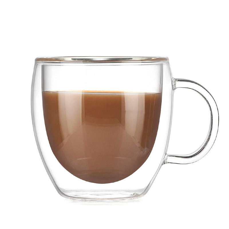 150ML Transparent Drinkware Coffee Cups Tea Set Mugs Beer Drink Office Mug Double Glass Cup Simple style in Mugs from Home Garden