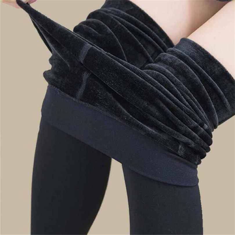 1ba3db840b283 VISNXGI горячие теплые леггинсы плюс размер бархатные зимние женские  леггинсы толстые модные сексуальные сапоги Одежда узкие
