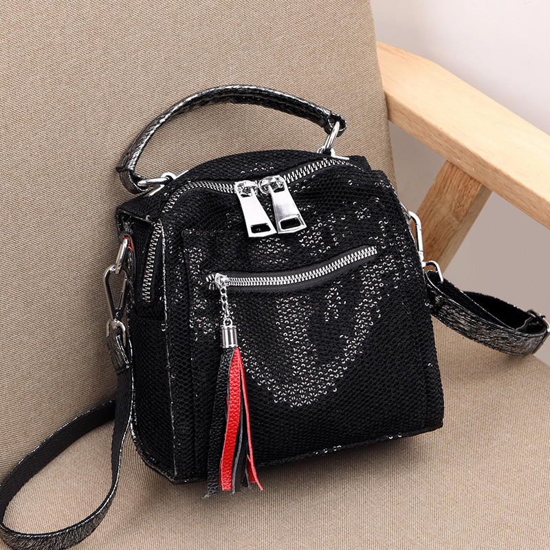 Backpack female 2019 new casual leather leather backpack lady multi-function practical backpack personality tassel three-use bagBackpack female 2019 new casual leather leather backpack lady multi-function practical backpack personality tassel three-use bag