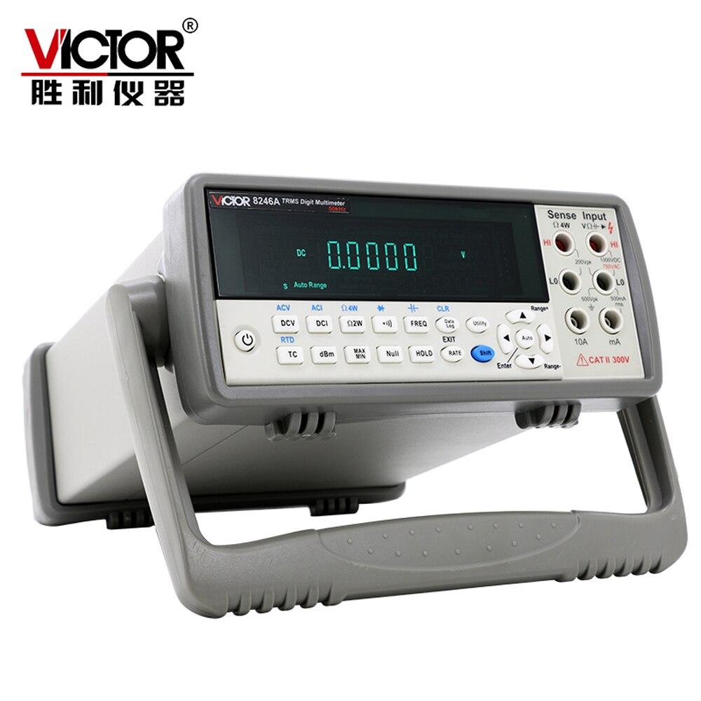 VICTOR VC8246B VC8246A Multimètre de table 1000 v 10A Auto Gamme 55000 Comtes Multimètre Numérique AC/DC USB RS-232 DBM null