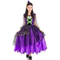 אקזוטי הגעה חדשה בגדי ליל כל הקדושים קרנבל תחפושות ביצועי שלב שמלת מכשפה שטן קטן קסם צבעוני בת 8533H279