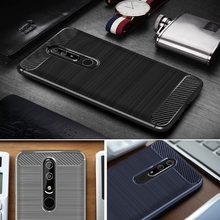 hot deal buy for nokia 6.1 case nokia 6.1 cover on for nokia 6 2018 premium original silicone mix hybrid protective soft shell