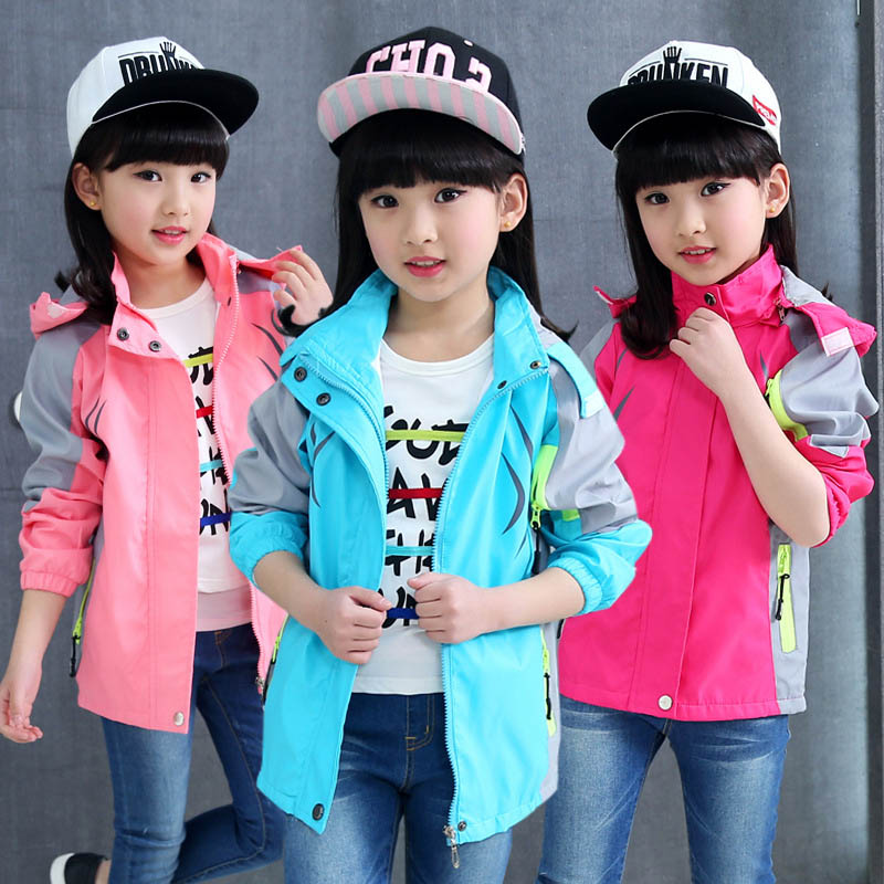 80f4bf02e58c girls coats for kids spring hooded outdoor outerwear children casual ...