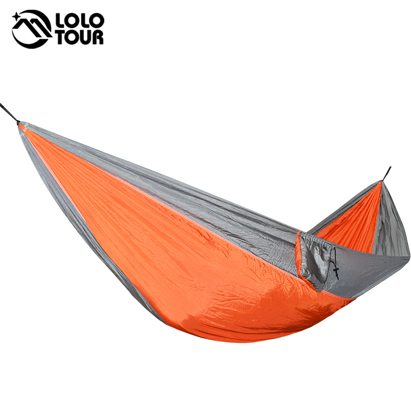 1 Person Parachute Hammock Portable Army Survival Hammocks Travel Hamaca Flyknit Hamak Nylon Hamaca Hamak Camping Hamac Rede thicken canvas single camping hammock outdoors durable breathable 280x80cm hammocks like parachute for traveling bushwalking