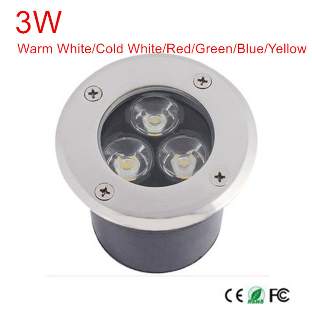 3w led underground light lamps ac85 265vdc12v outdoor buried 3w led underground light lamps ac85 265vdc12v outdoor buried recessed floor spotlight waterproof aloadofball Images