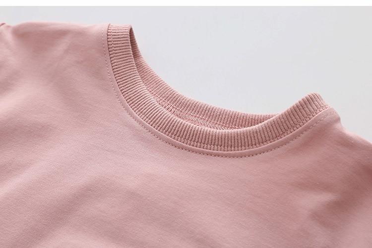 2018 Spring Autumn 2-10 11 12 Years Old Teenager Children Patchwork Fake 2 Pcs Baby Kids Basic Sweatshirt For Girls 11 12 Years (12)