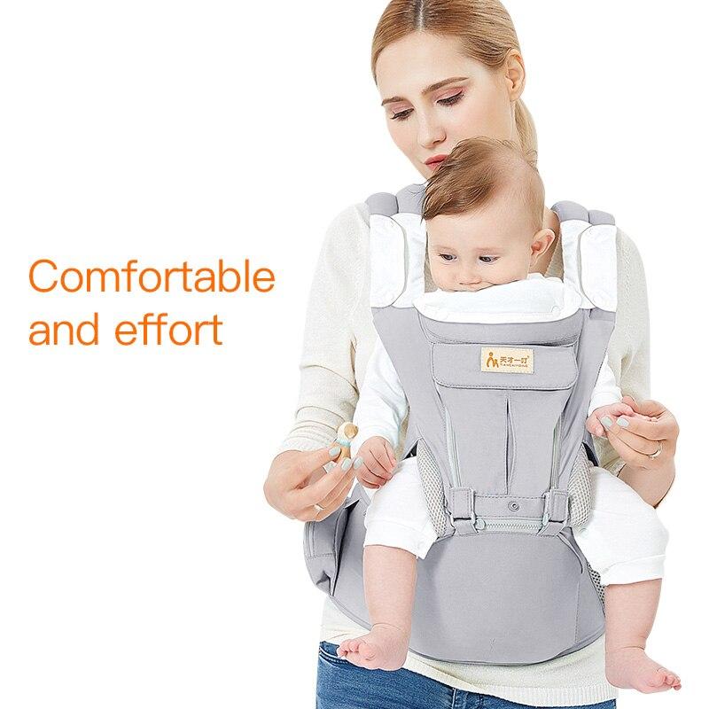 0-36 mois porte-bébé infantile fronde porte-emballage sac à dos pour bébé deux épaules élastique coton Hipseat