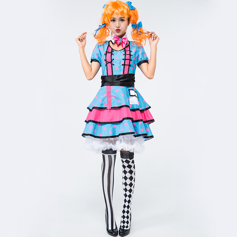 Woman's Polka Dot Clown Costume