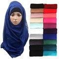 1 шт. женщины твердые макси шарфы хиджаб украл негабаритных исламские платки платки обертывания головы мягкие длинные мусульманин вискоза равнина хиджабы