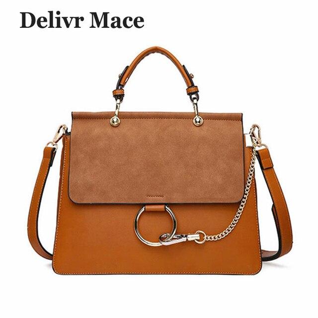 0c817db69 Серая женская сумка 2018 роскошная дизайнерская цепочка кольцо сумка на плечо  Женская знаменитая брендовая Замшевая сумка
