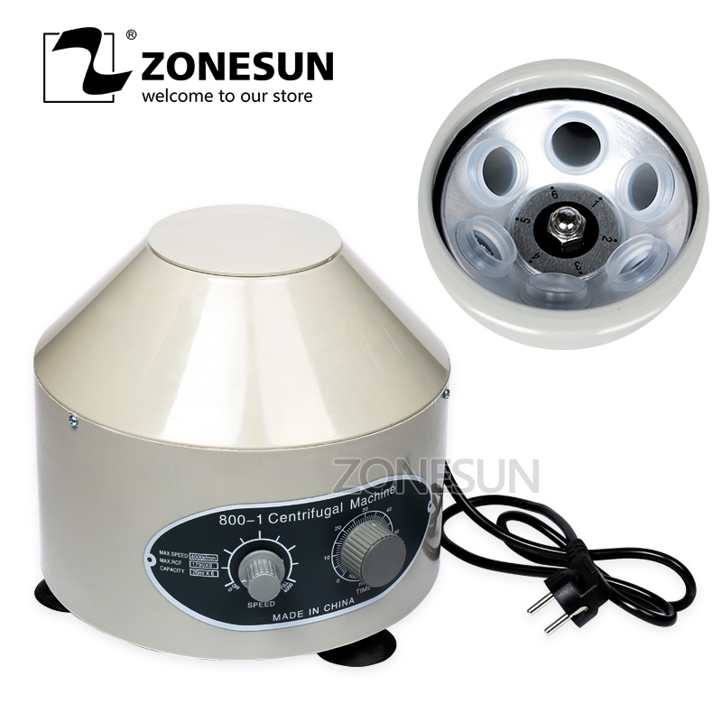 ZONESUN 800D Desktop Electric Medical Lab Centrifuge Laboratory Centrifuge 4000rpm CE 6 x 20ml 220v 800d electric centrifuge 4000r min 25w laboratory lab medical practice desktop laboratory centrifuge machine