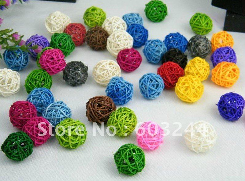 Free Ship 200pcs Mixed 3cm Natural Twig Balls Vase Filler Table Scatter  Wedding Bridal Baby Shower ...