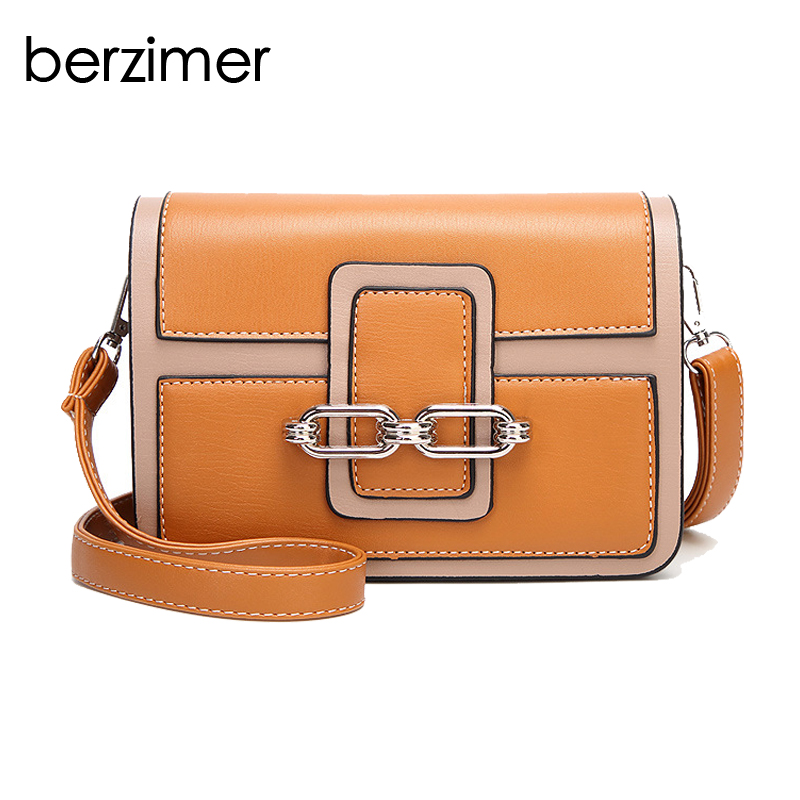 BERZIMER Elegant Vintage Women Shoulder Bag Stylish Black Green Red Orange Pink Shoulder Stylish Crossbody Bags for Women stylish floral off the shoulder blouse for women