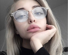 NEW Fashion Women Glasses Frame Men Eyeglasses Frame Vintage Round Clear Lens Glasses Optical Spectacle Frame