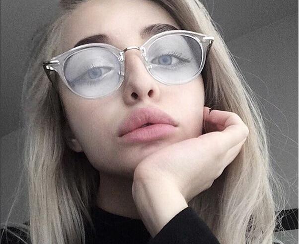 buen servicio genuino mejor calificado proporcionar una gran selección de € 3.44 5% de DESCUENTO|Nueva moda mujer gafas de marco de los hombres gafas  marco Vintage redondo gafas ópticos marco en Las mujeres gafas de Marcos ...