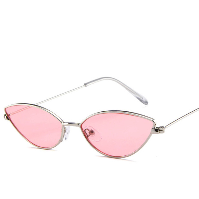 2018 Mew Vintage Cat Eye Sunglasses Women Small Triangle Sun Glasses Fashion Color Lenses Female Glasses Metal Frame UV400