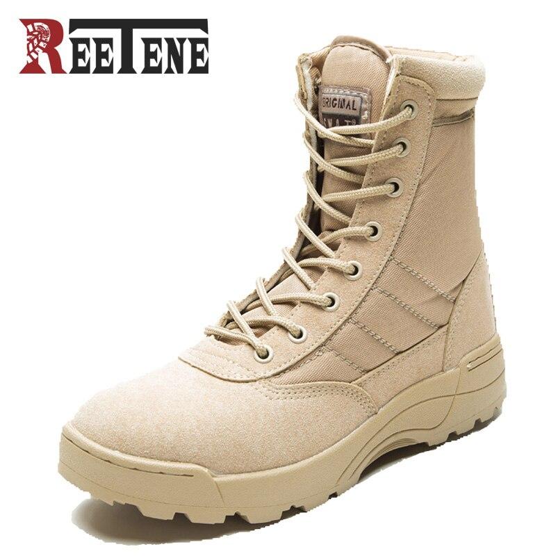 Nouvelle amérique Sport armée hommes bottes tactiques désert en plein air randonnée en cuir bottes militaires passionnés Marine hommes chaussures de Combat