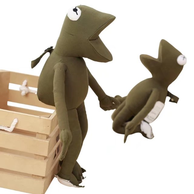 45cm Wholesale Drop Shipping Two Different Eyes Funny Green Frog Plush Toy Cartoon Stuffed Plush Animal Doll Kids Birthday Gifts 2016 hot sale 45cm frog superme dolls pose frog doll plush toys sesame street stuffed animal plush frog 70cm frog for gift