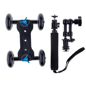"""Image 5 - Mobile Rolling Sliding Dolly 7"""" Magic Arm Extendable Self Portrait Handheld Monopod With Attached Tripod Mount For GoPro 7"""