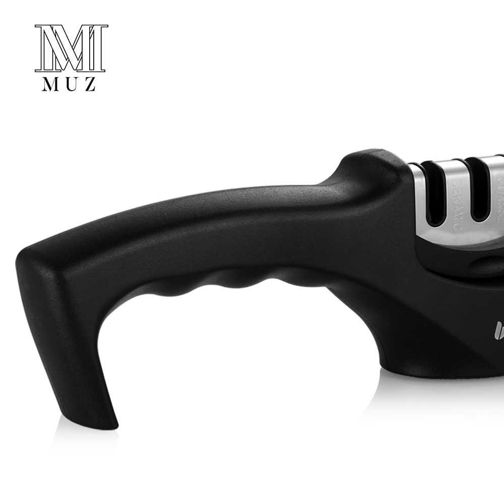 MUZ Professional 3 Stage Knife Sharpener for Stainless Steel Ceramic Kitchen Knife Diamond Tungsten Manual Sharpening Stone Tool