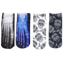 4 Pairs /Lot  3D Printed Boat Socks  Cartoon Animal Character Women Socks Cute Funny Socks For Women Men Unisex Sock