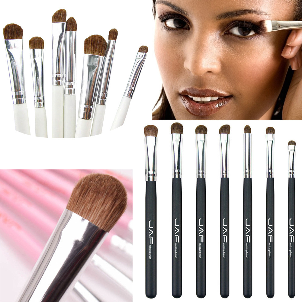 JAF 7 Pcs Eye Shadow Eyeliner Makeup Brush Set  Professional Face  Foundation Blending Eye Contour Make up Brush Cosmetics Tool new and original brp3m mdt brp3m mdt p autonics photoelectric switch 12 24vdc