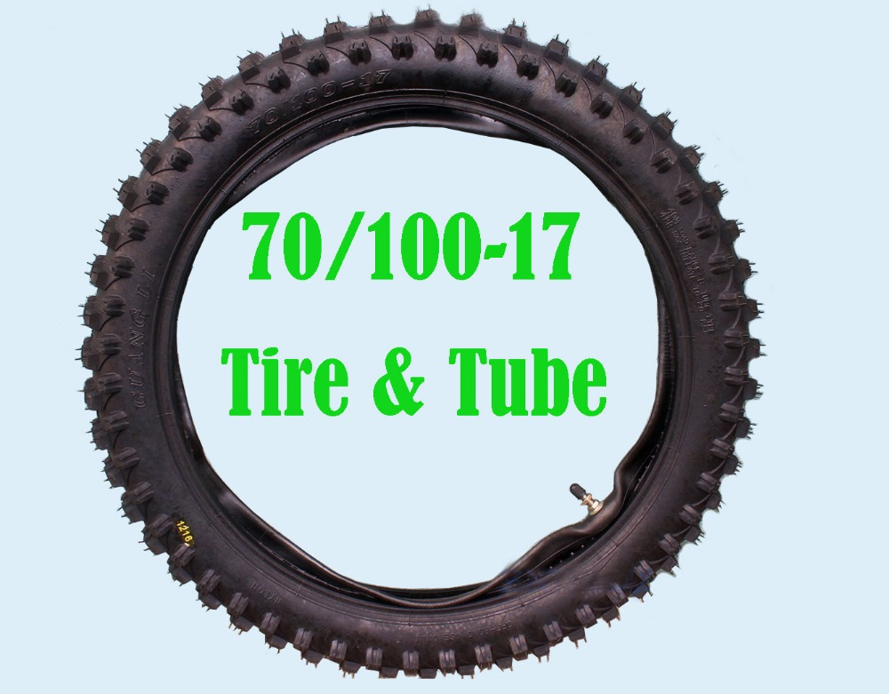 17 inch 70 100 17 Knobby Front Tyre Tube Trail Pit Dirt Bike Tire QQL