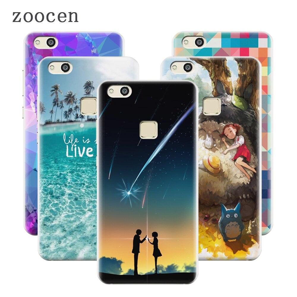 Zoocen moda hecha a mano de impresión del teléfono case cubierta para huawei p10