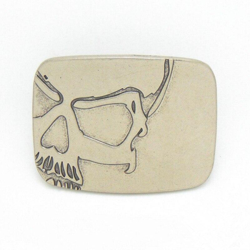 d8c4e047d000 Date de détail de haute qualité argent crâne Cowboys boucles de ceinture  avec étain mode hommes femmes Jeans accessoires fit 4 cm large ceinture