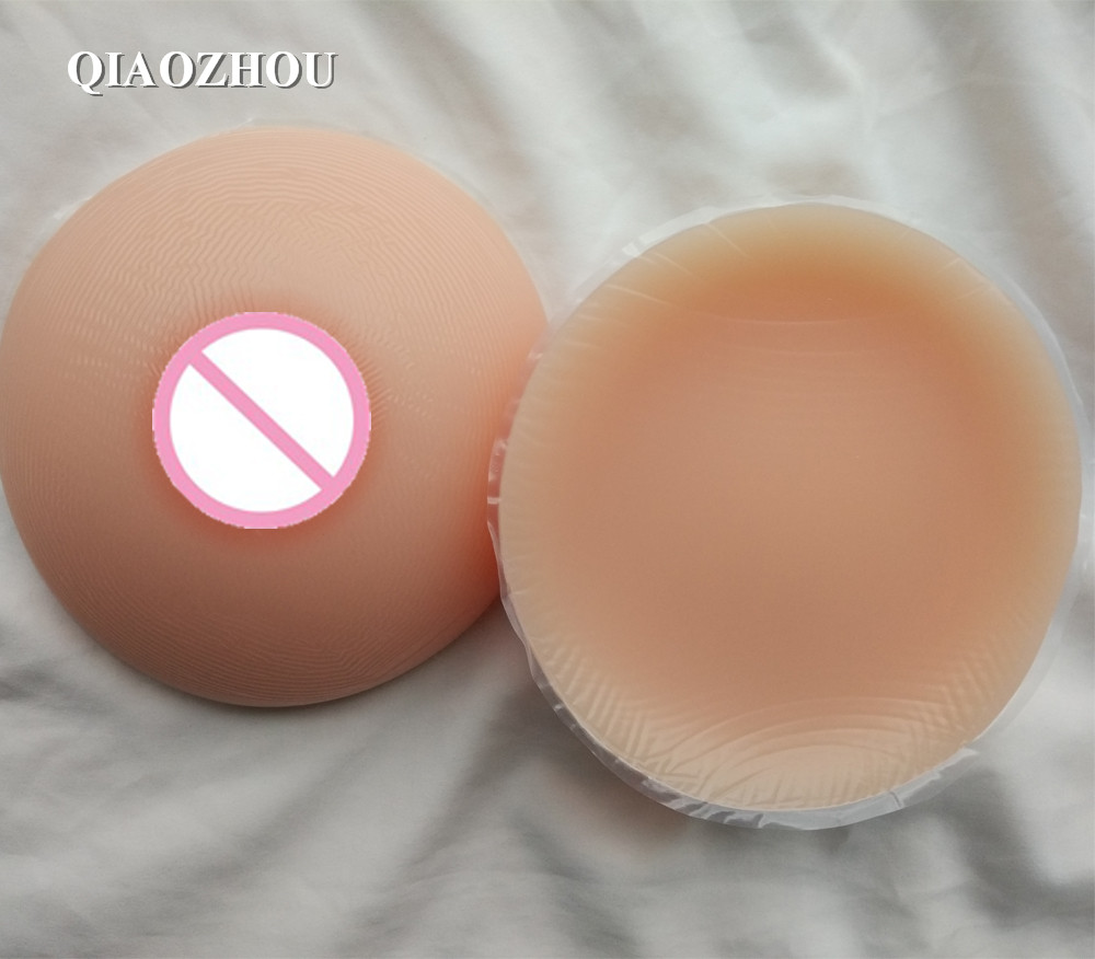 1000g pair D cup silicone fake breast forms round full sexy boobs for mastectomy crossdresser cosplay use