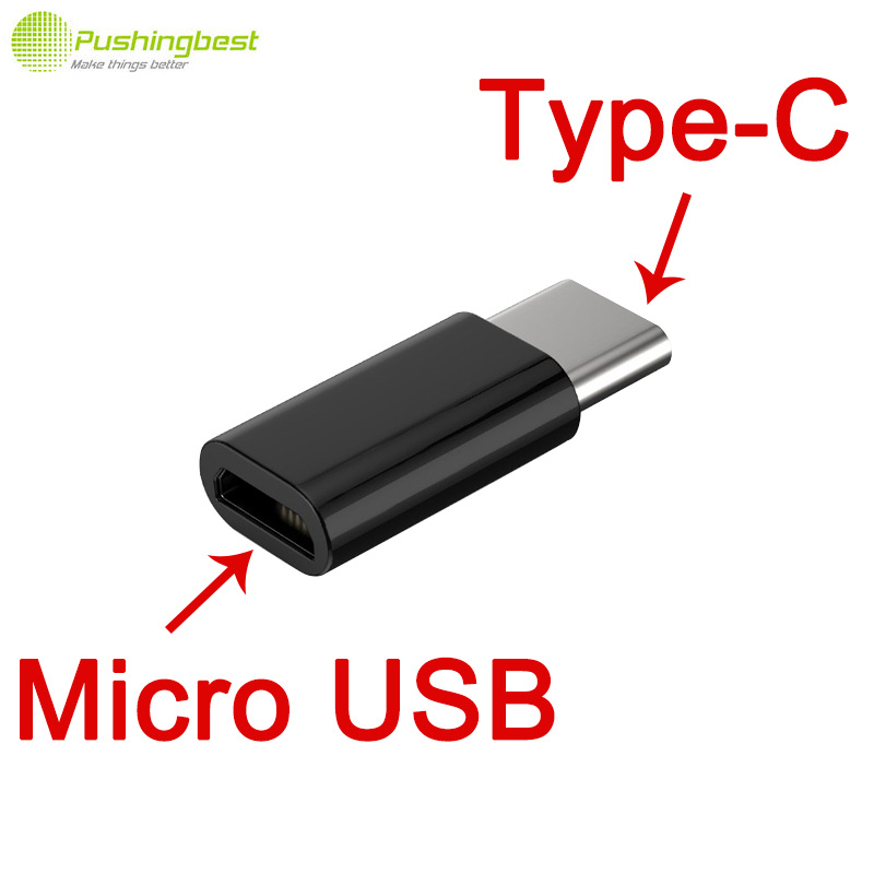 Pushingbest USB 3.1 Type C Type-C Male to Micro USB Female Converter Adapter for xiaomi mi4c 4S 5 One Plus Two 2 Nexus 5X 6P