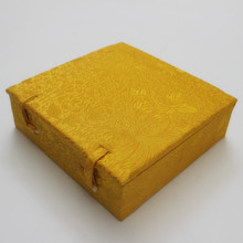 high end silk brocade box decorative cotton filled extra large gift packaging boxes picture frame dish