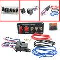 Auto racing 3 Painéis Switch capa toggle switch 12 V 20A vermelho de corrida interruptor de ignição panel engine start