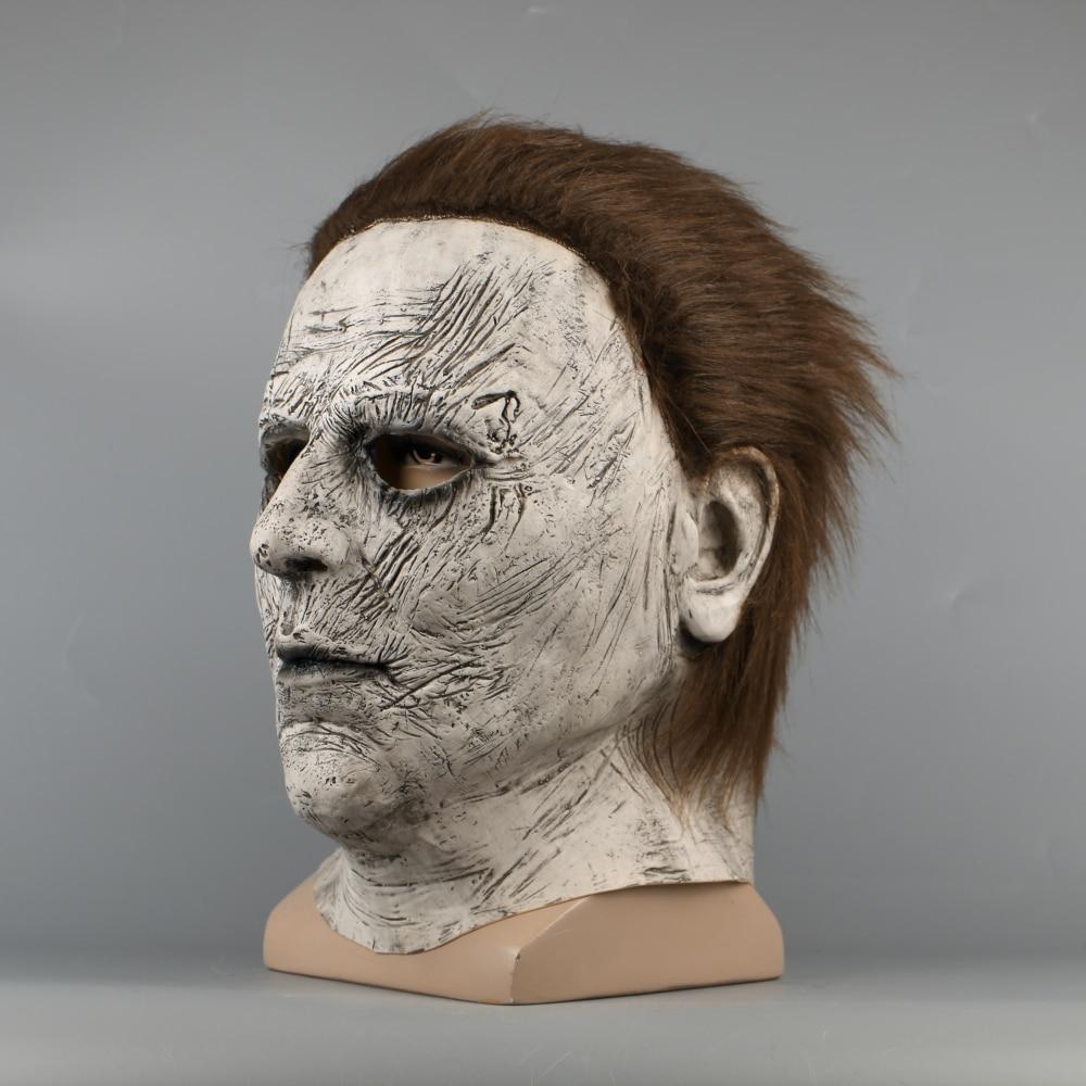 2018 Halloween Mask New Michael Myers Mask Scary Horror Halloween Handmade Mask (6)