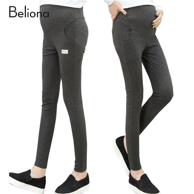 Spring Cotton Maternity Leggings for Pregnant Women Adjustable Belly Care Pregnancy Clothes Plus Size Premama Maternity Pants