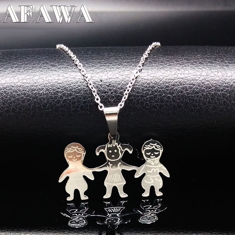 Cute Doll Stainless Steel Boys Girls Necklaces & Pendants Jewelry For Kids  Necklaces Pendants Accesorios Collares Mujer N2601 - Hot Offer #E45125 |  Cicig