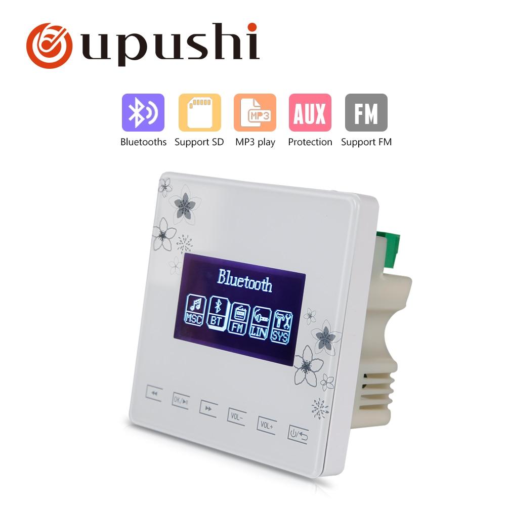 OUPUSHI A0 smart home audio wall <font><b>amplifiers</b></font> <font><b>bluetooths</b></font>, Music Player ,SD Aux FM. mini touch screen <font><b>amplifier</b></font> free shipping