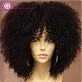 7A rheem волосы парик перуанские 100% человеческих парик / фронта парики короткие странный вьющиеся lacewigs для мода афро-американцев