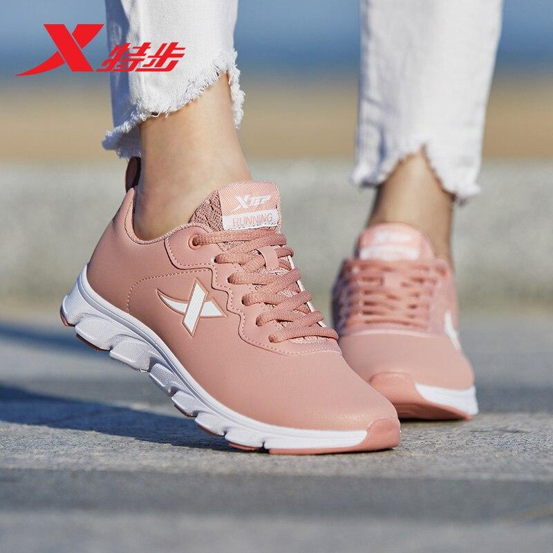 881118119265 Xtep 2018 зимние кроссовки распродажа дышащая легкая спортивная обувь спортивные кроссовки для женщин