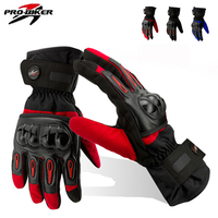 New Motorcycle Racing Waterproof Windproof Winter Keep Warm Leather Gloves X XL 3 Color Free Shipping